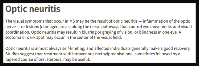 Optic Neuritis MSS